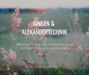 Singen mit Alexander-Technik